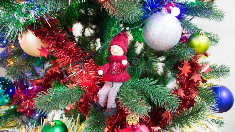 Stile del Russo della decorazione dell'albero di Natale immagini stock