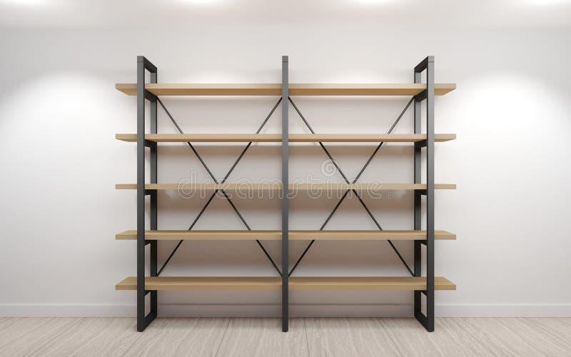 Stile del sottotetto dello scaffale del guardaroba illustrazione di stock