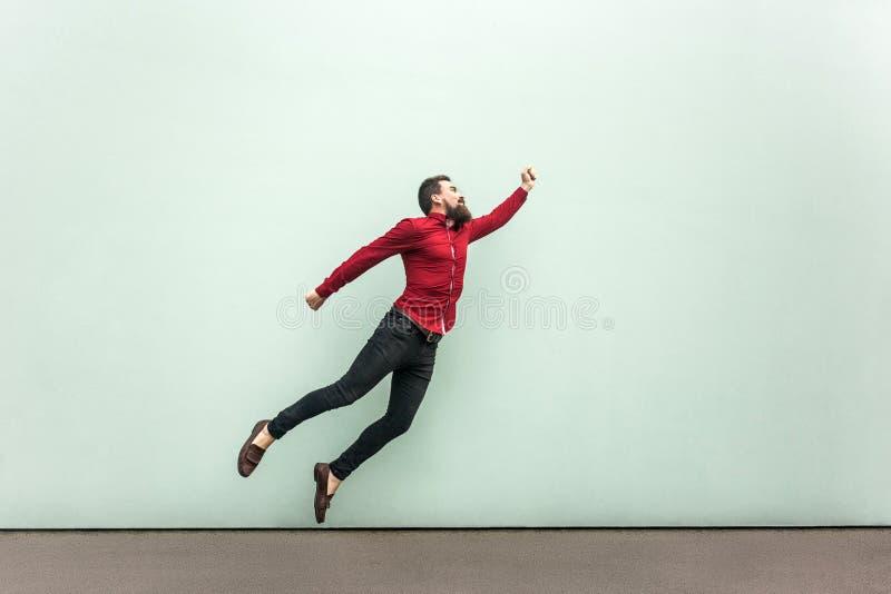 Stile del superman Concetto di entusiasmo immagini stock