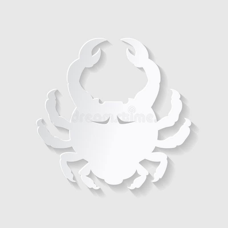 Stile del taglio della carta dell'oroscopo Concetto per Cancro Illustrazione di vettore royalty illustrazione gratis