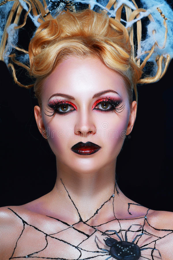 Stile del vampiro di notte fotografia stock