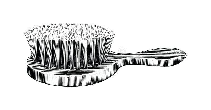 Stile dell'annata del disegno della mano della spazzola illustrazione vettoriale