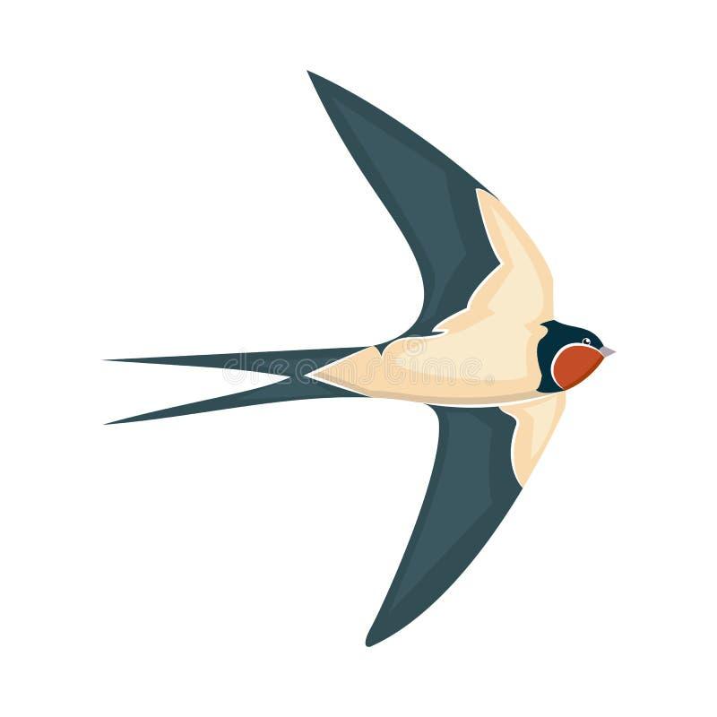 Stile dell'illustrazione di vettore del sorso in volo piano royalty illustrazione gratis