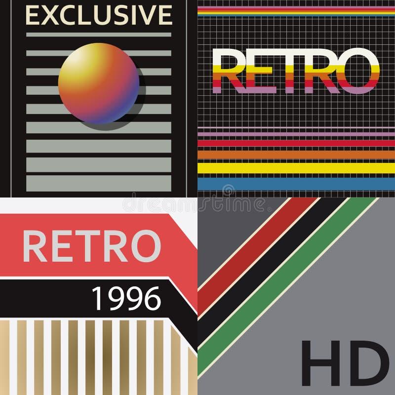 Stile della copertura di VHS illustrazione di stock