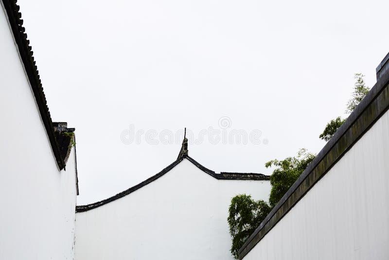 Stile della pittura della Cina della foto del museo di Suzhou fotografie stock