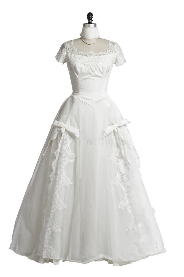 Stile della principessa degli anni 50 del vestito da cerimonia nuziale dell'annata fotografie stock