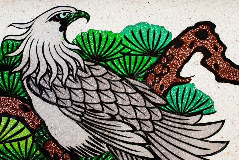 Stile di Art Chinese sulla parete del tempio immagini stock