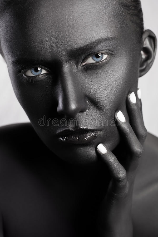 Stile di bellezza di alta moda Fronte Art fotografie stock libere da diritti