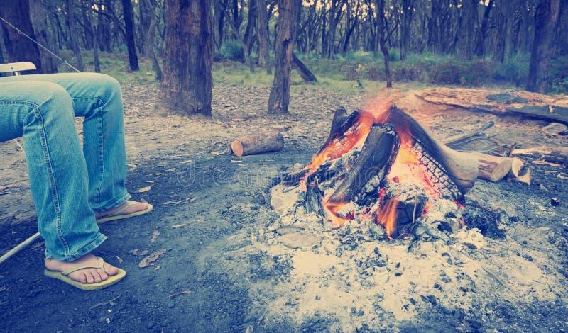 Stile di campeggio di Instagram fotografie stock libere da diritti
