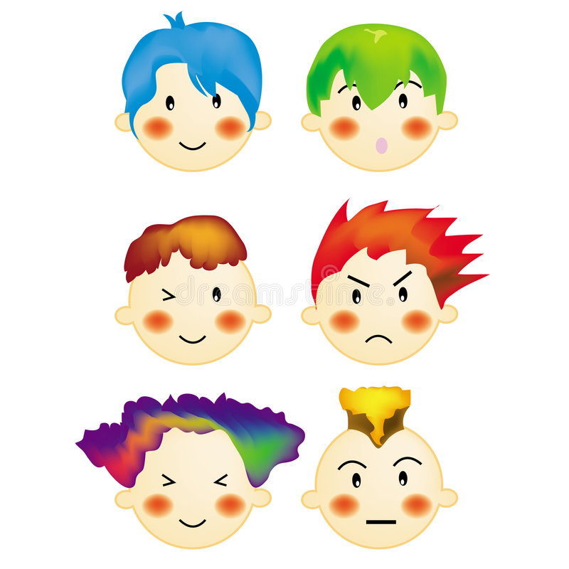 Stile di capelli dei ragazzi 2 royalty illustrazione gratis