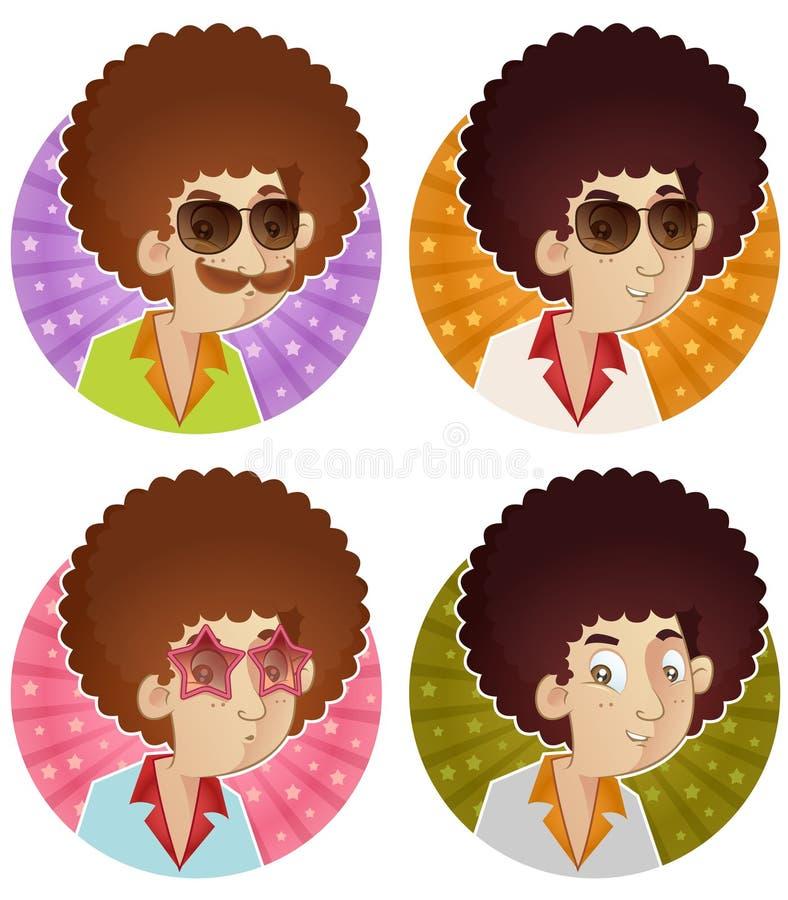 Stile di capelli di Afro illustrazione di stock