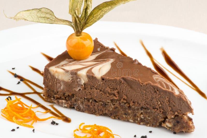 Stile di fusione del dolce del vegano decorato fotografia stock libera da diritti