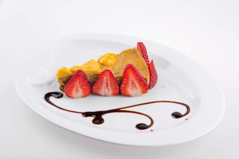 Stile di fusione del dolce del vegano decorato fotografie stock libere da diritti