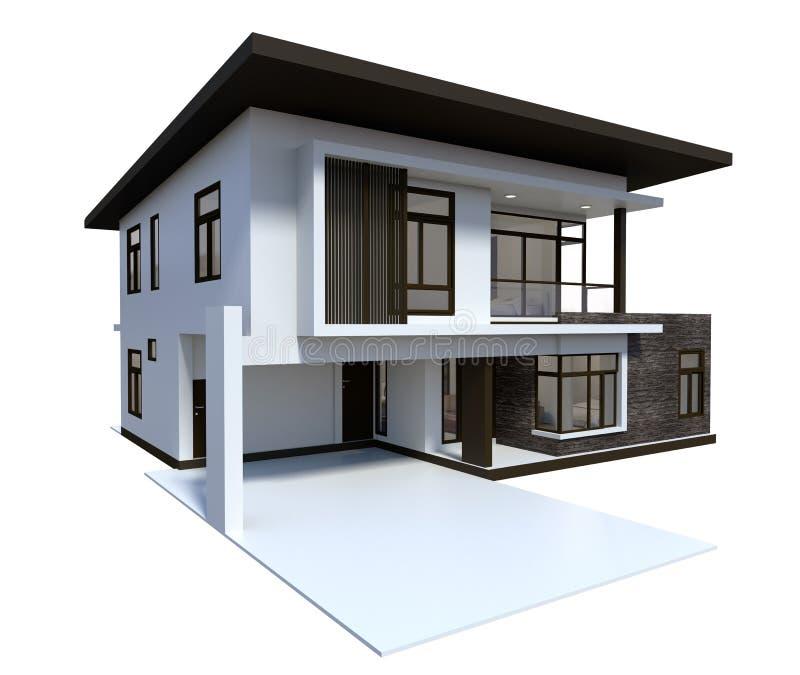 Stile di lusso dell'illustrazione della Camera 3d isolato su fondo bianco illustrazione di stock