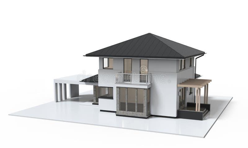 Stile di lusso dell'illustrazione della Camera 3d isolato su fondo bianco illustrazione vettoriale