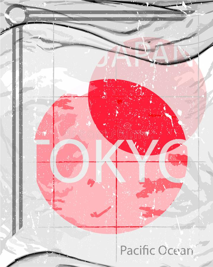 Stile di modo di progettazione grafica di Tokyo immagini stock libere da diritti