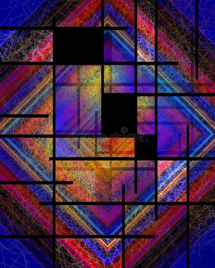 Stile di Mondrian di noleggi immagine stock libera da diritti