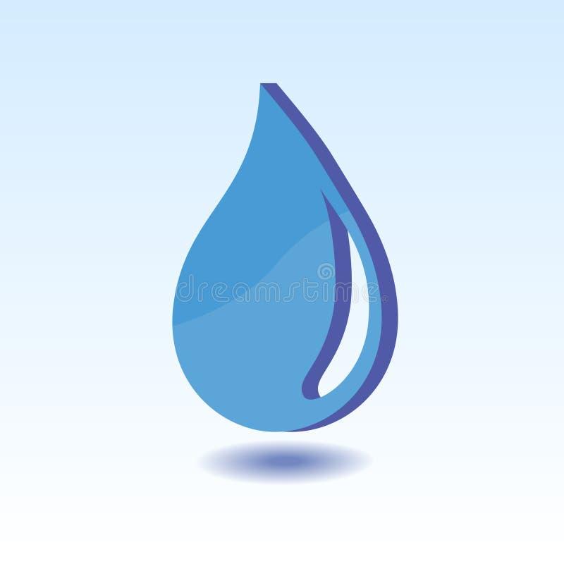 Stile di simbolo 3D dell'elemento dell'acqua royalty illustrazione gratis