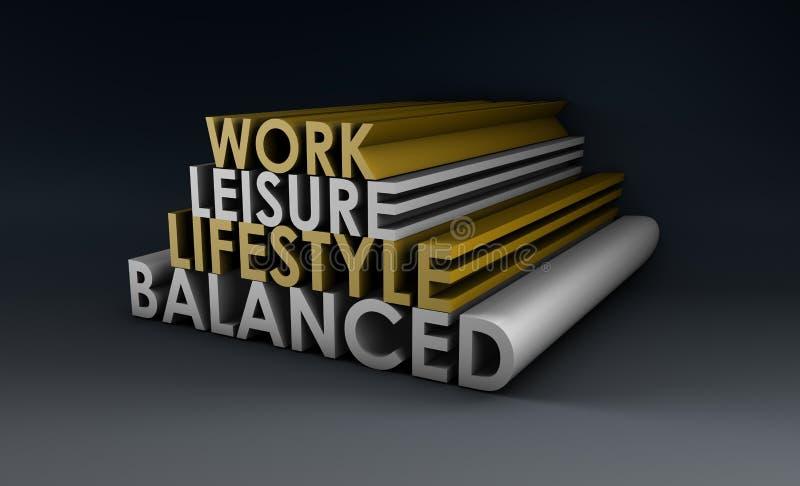 Stile di vita equilibrato illustrazione vettoriale