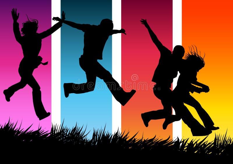 Stile di vita felice illustrazione vettoriale