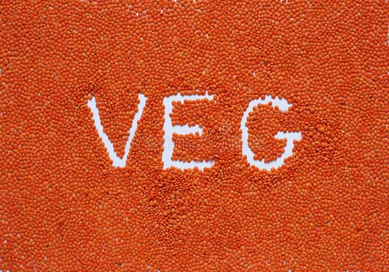 Stile di vita sano del fondo delle lenticchie rosse fotografie stock libere da diritti