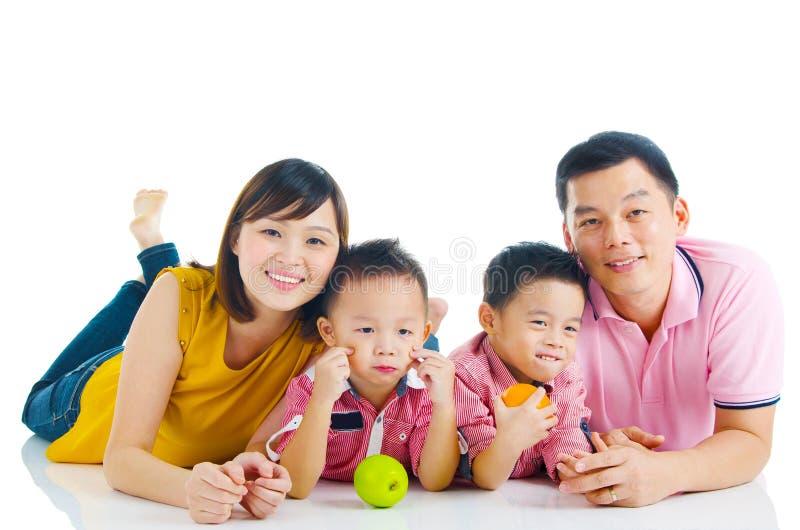 Stile di vita sano della famiglia asiatica fotografia stock