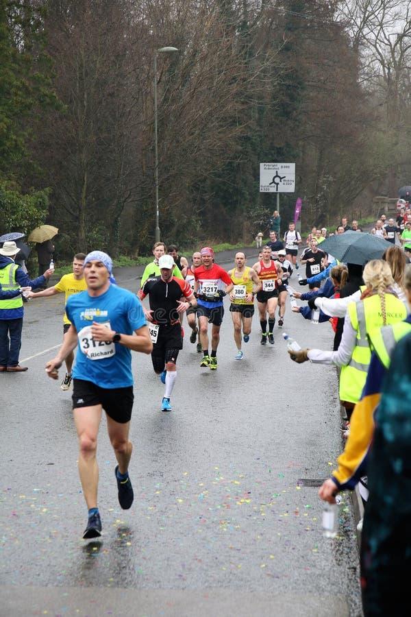 Stile di vita sano di forma fisica maratona corrente fotografia stock libera da diritti