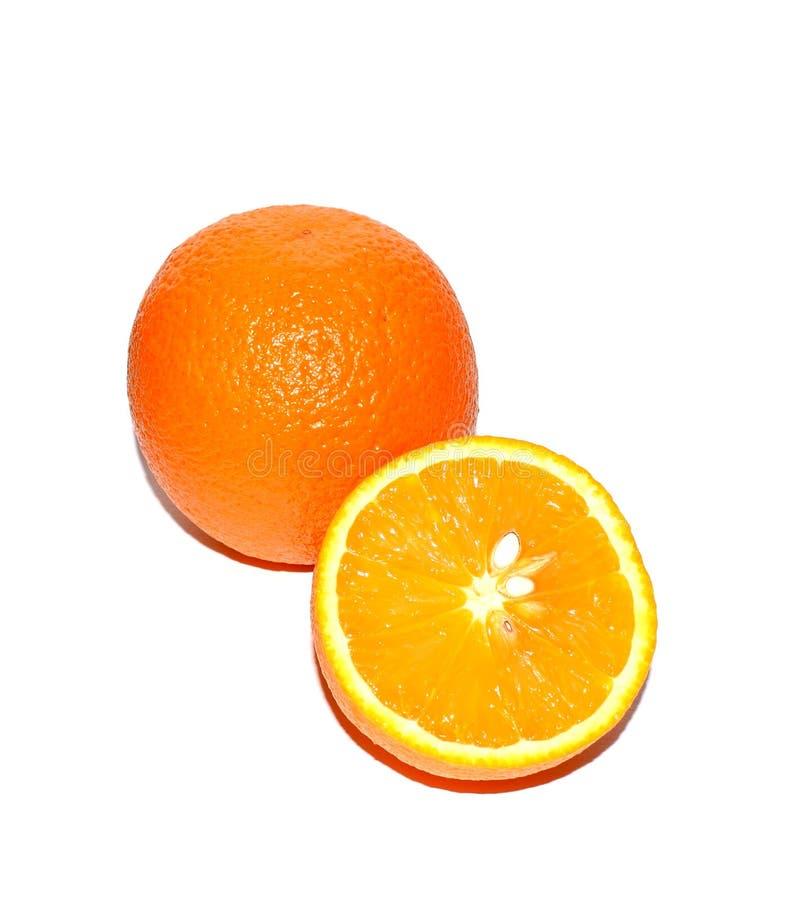 Stile di vita sano Foto di un arancio su una priorità bassa bianca Tropici, agrumi, vitamine fotografia stock
