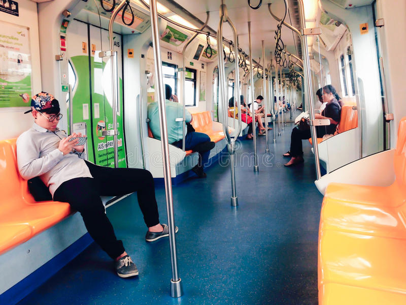 Stile di vita in un treno fotografie stock libere da diritti