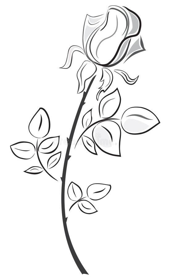 Stile dissipato della Rosa a disposizione royalty illustrazione gratis