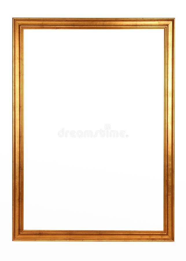 Stile dorato di barocco della cornice immagini stock