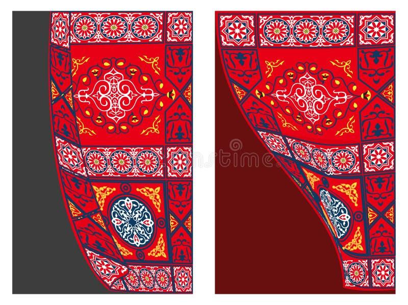 Stile egiziano 1 della Tessuto-Tenda della tenda royalty illustrazione gratis
