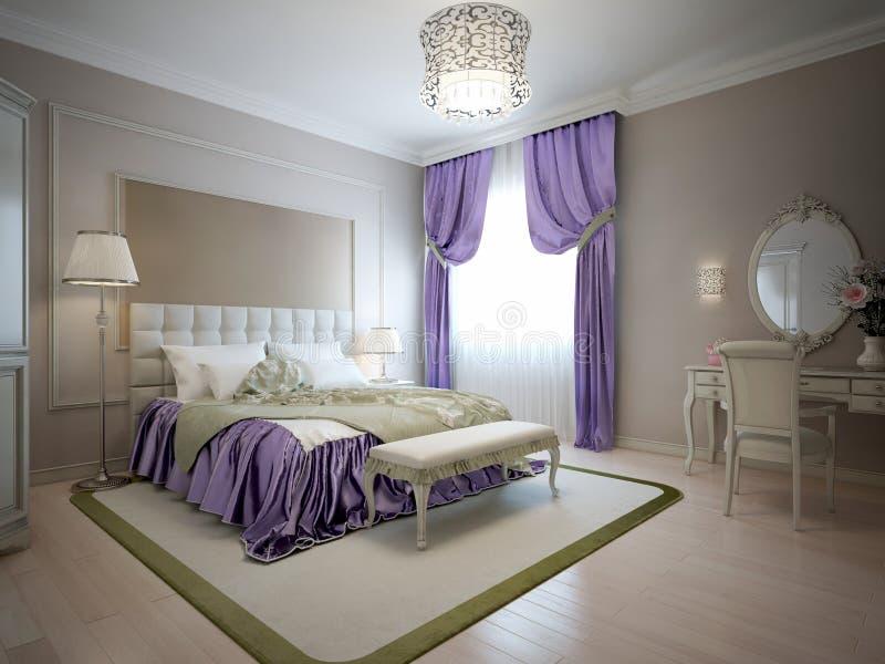 Stile elegante del classico della camera da letto for Camera da letto del soffitto della cattedrale