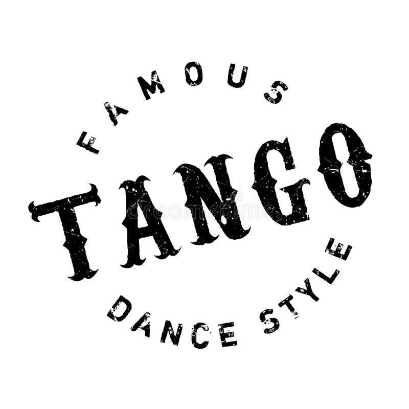 Stile famoso di ballo, bollo di tango illustrazione di stock