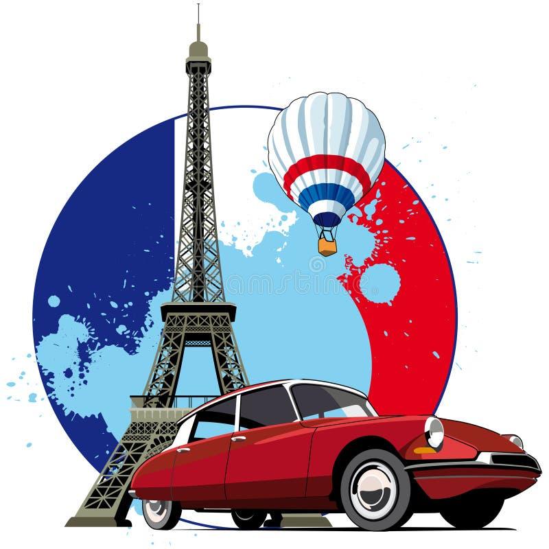 Stile francese illustrazione di stock