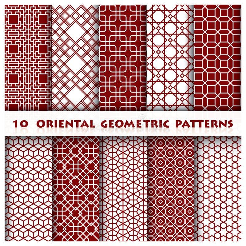 Stile geometrico orientale del modello royalty illustrazione gratis