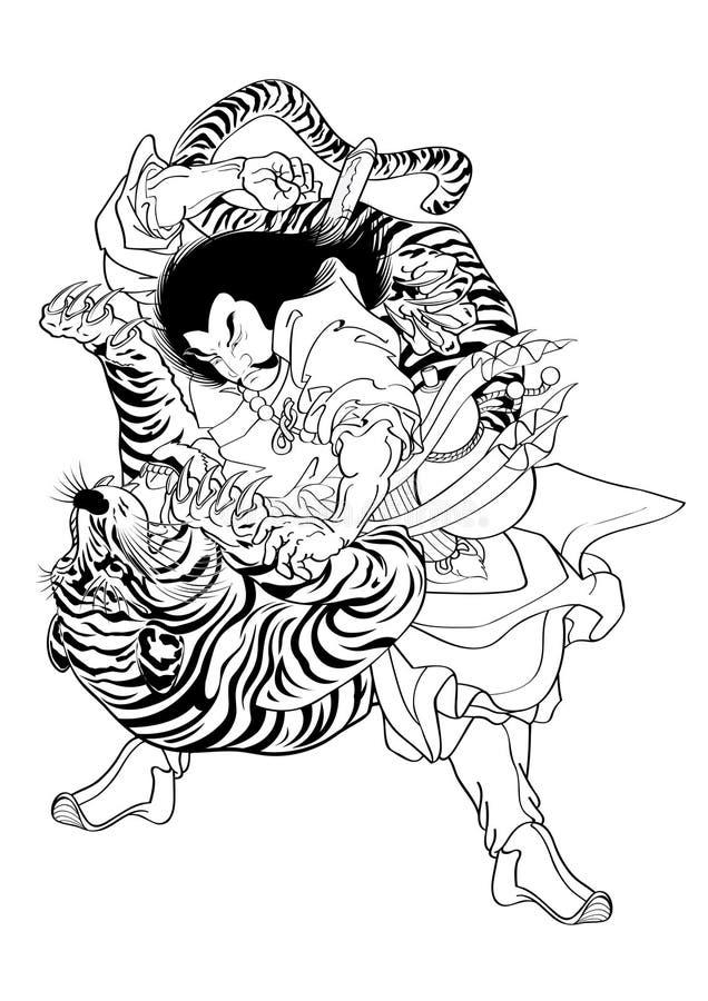 Stile giapponese del tatuaggio fotografia stock
