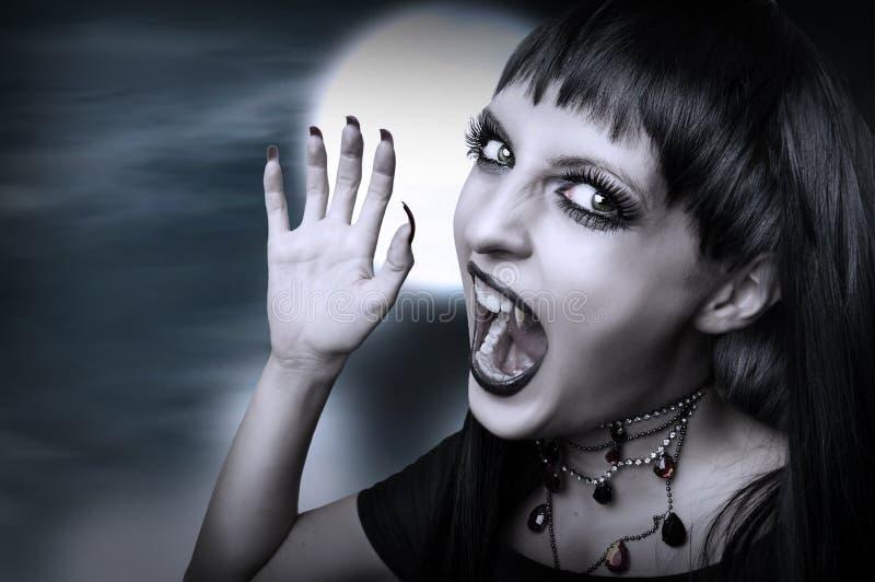 Stile gotico del vampiro per Halloween. fotografia stock