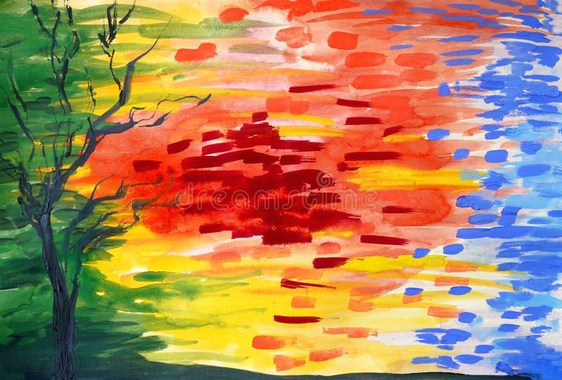 Stile grafico di lerciume della composizione luminosa in colori immagini stock libere da diritti