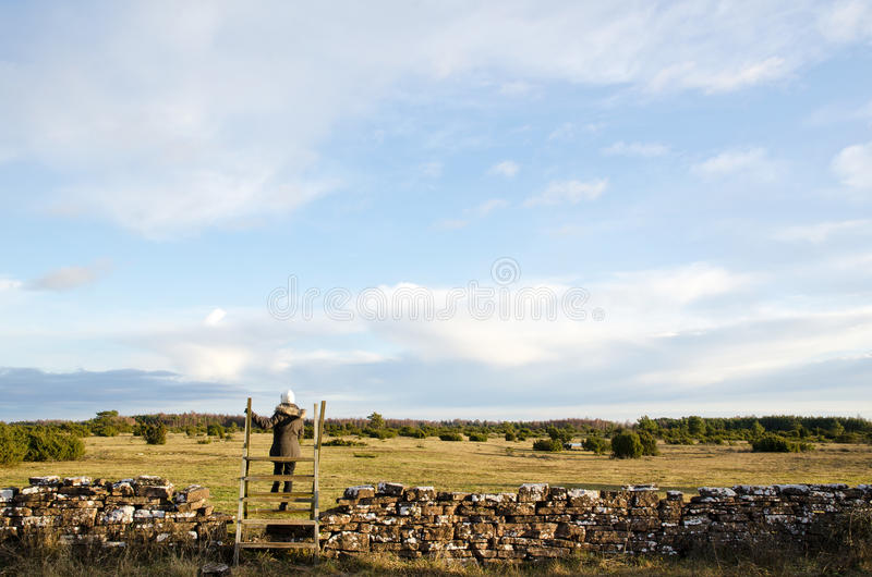 Stile At The Great Plains Royalty Free Stock Images