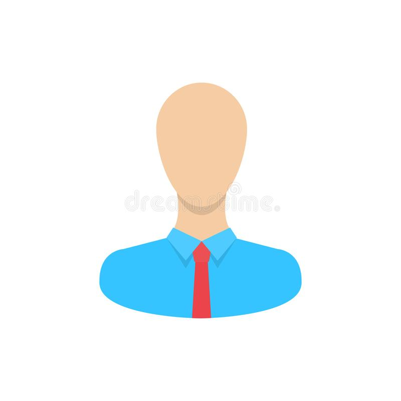 Stile isolato e piano della siluetta dell'icona dell'utente su un fondo bianco Il simbolo per un sito Web ed altri vostri progett illustrazione di stock