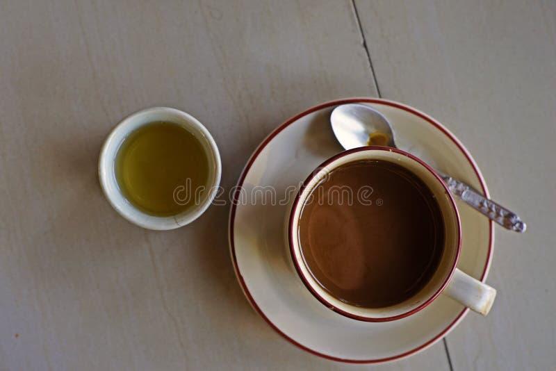 Stile locale del caffè di mattina fotografie stock libere da diritti