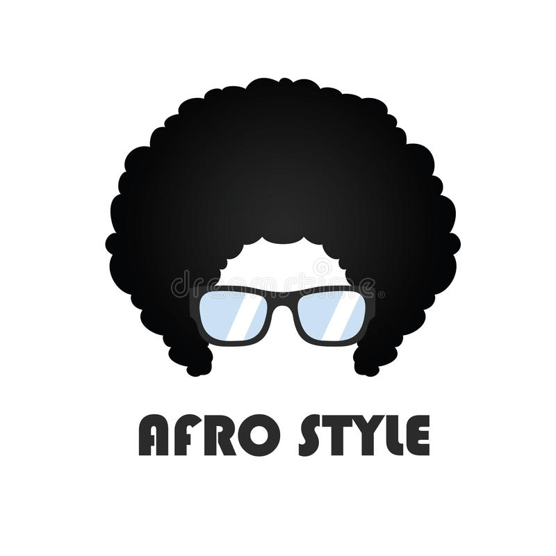 Stile Logo Vector Design di afro illustrazione di stock