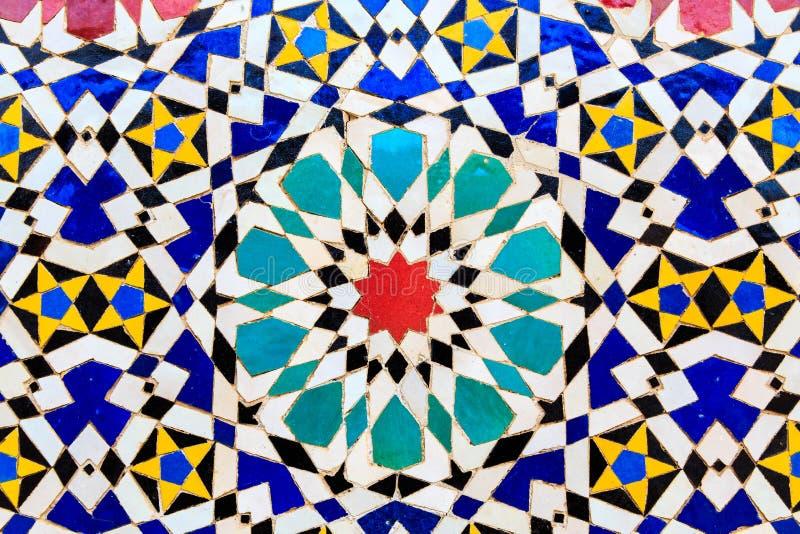 Stile marocchino del mosaico islamico utile come fondo fotografie stock libere da diritti