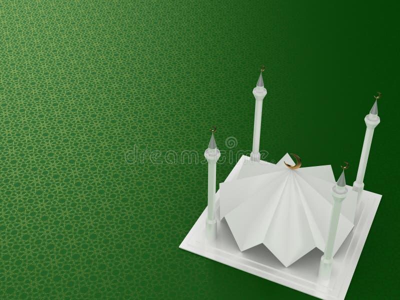 Stile minimalista 3D della moschea royalty illustrazione gratis