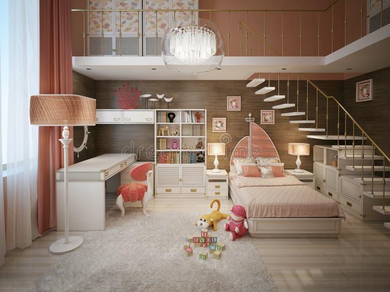 Stile moderno della camera da letto delle ragazze - Camera da letto classico moderno ...