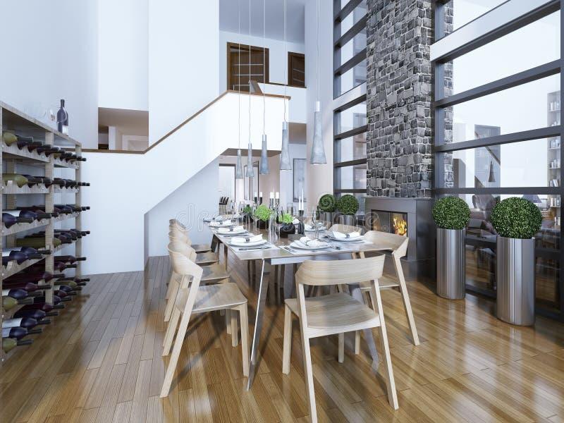 Stile moderno della sala da pranzo immagine stock for Sala da pranzo stile contemporaneo