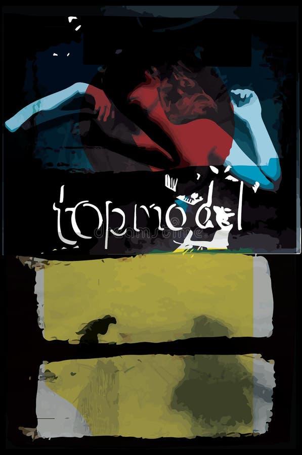Stile moderno di modo di progettazione di arte del manifesto; vettore del grafico del collage illustrazione di stock
