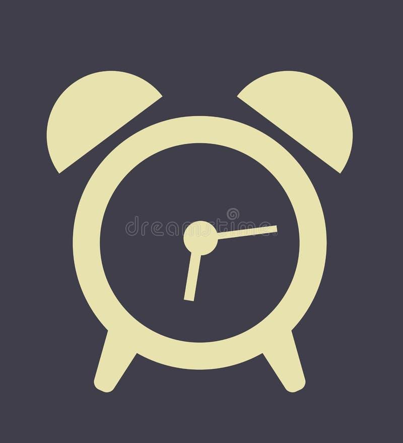 Stile moderno di progettazione piana dell'icona dell'orologio di Digital royalty illustrazione gratis