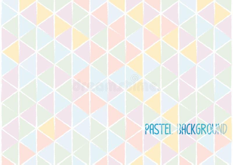 Stile pastello di colore di acqua del fondo astratto geometrico del triangolo illustrazione di stock
